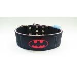 Collare 5cm Doppia Fibbia Batman Rosa