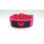 Collare 5cm Doppia Fibbia Superman Rosa