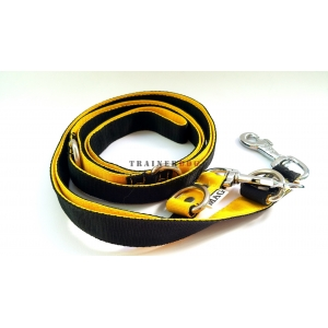 Guinzaglio 240 cm nero e giallo