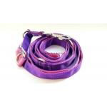 Guinzaglio 240 cm rosa e viola